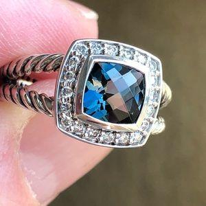 David Yurman Hampton Blue Topaz Albion Ring